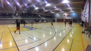 Turnaus pelattiin komeassa hallissa.