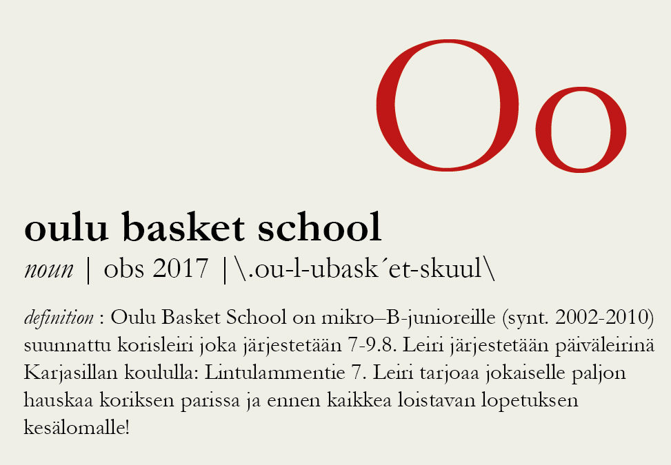 Oulu Basket School 7.-9.8.